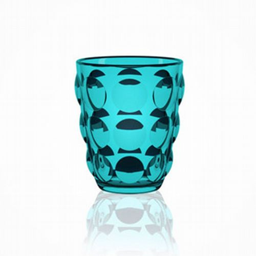 Bubble Glass Tumbler - Blue